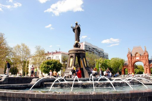 памятник Екатерине Великой. Краснадар